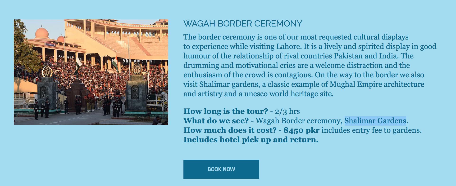 Wahga Border Tour
